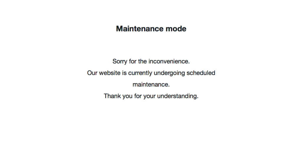 maintenance-mode