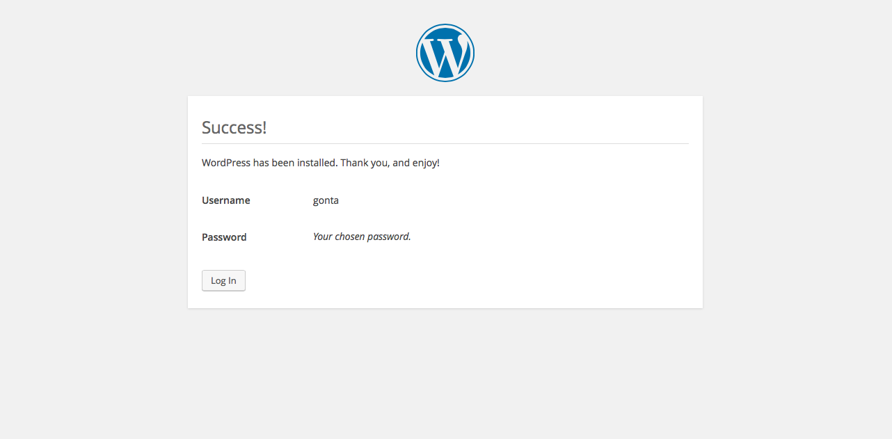 manual install of wordpress